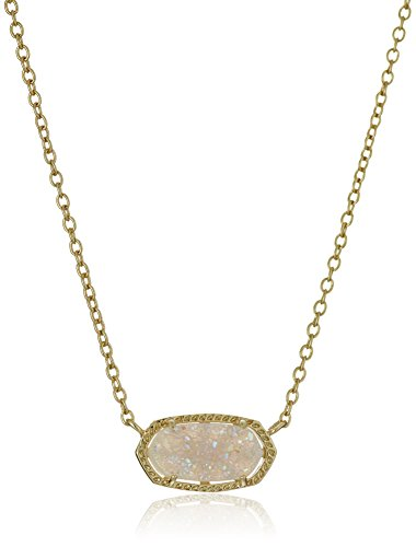 Kendra-Scott-Signature-Elisa-Gold-Plated-Iridescent-Druzy-Pendant-Necklace