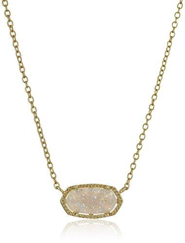 Kendra-Scott-Signature-Elisa-Gold-Plated-Iridescent-Druzy-Pendant-Necklace