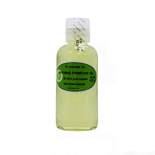 Evening Primrose Carrier Oil Organic Pure Cold Pressed by Dr.Adorable 4 Oz (Primrose Oil Cold Pressed compare prices)