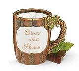 """Bless This Home"" Pumpkin Shaped Mug w/ Sentiment"