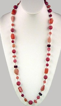 Shades of Pink Unique Beaded Necklace