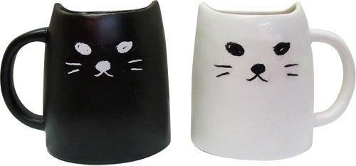Peamagu SAN2140 and white cat animal tea black cat (japan import)
