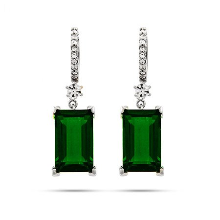 Emerald Cut Dangle Earrings