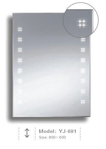 Badspiegel BELEUCHTET Wandspiegel BELEUCHTUNG Spiegel LICHT Badwandspiegel aus Kristall YJ-691