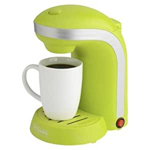 Amazon.com: Kitchen Selectives 1-Cup Single Serve Drip Coffee Maker, Green: Drip Coffeemakers ...