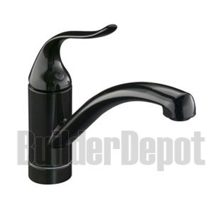 KOHLER K-15075-P-7 Coralais Decorator Kitchen Sink Faucet, Black Black