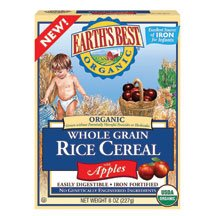 Earth'S Best Baby Foods Rice W/Apples, Whole Grain 8 Oz (Pack Of 12) front-638392