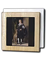 BLN Paintings of Kings, Queens and Royalty - James Stuart, Duke of Richmond and Lennox, 1637 by Anthony Van Dyck - Tile Napkin Holders - 6... by 3dRose