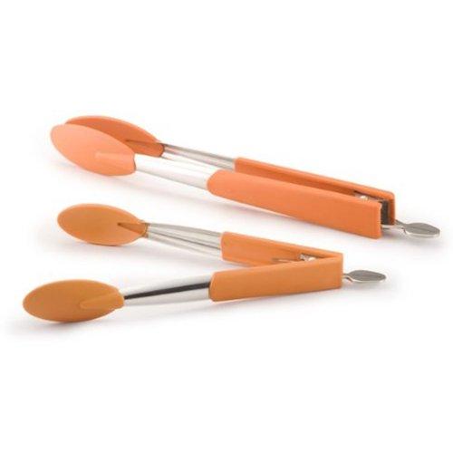 Rachael Ray Tools Lil Huggers 2-Piece Tong Set, Orange