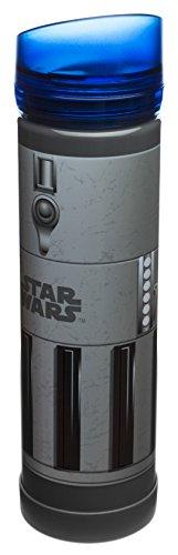 Zak! Designs Tritan Plastic Blue Light Saber Water Bottle with Screw-on Lid, BPA-free and Break Resistant, Inspired by Anakin Skywalker's Light Saber from Star Wars, 21.5oz