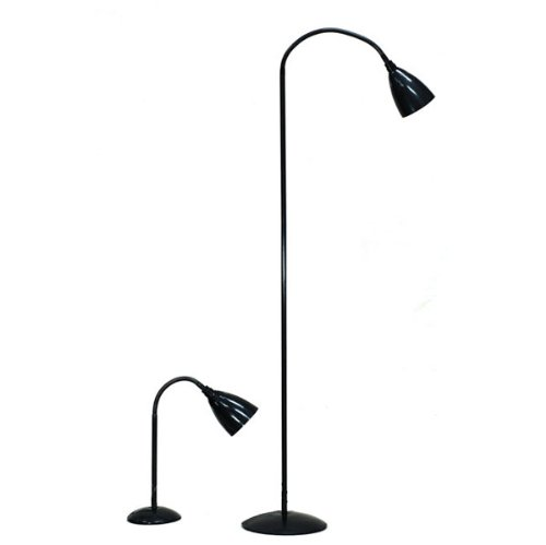 5.6' Floor Lamp & 2' Table Lamps (Set of 2)
