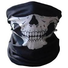 Skeleton Face Mask, Bandana, Face Protection, Multifunctional, Seamless, Tube Mask, Thin, Lightweight, Perfect For Skiing, Snowboarding, Motorcycling, Paintball, Yard Work, Costume Dress Up, & More!