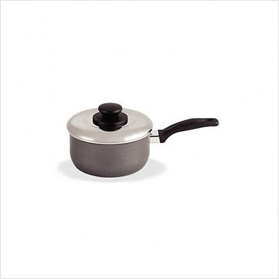 T-fal A85724 Specialty Nonstick Dishwasher Safe Handy Pot Saucepan with Glass Lid Cookware, 3-Quart, Gray