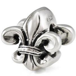 Authentic OHM New Orleans Fleur De Lis 925 Sterling Silver Bead fits European Charm Bracelet
