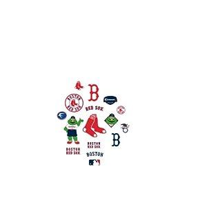 MLB Boston Red Sox Team Logo Assortment Fathead Jr. Wall Decal by Fathead