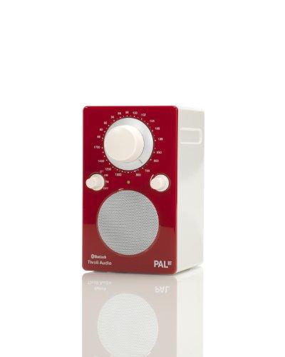 高級オーディオ チボリ+PALBTGR+★ Bluetooth対応 ポータブルAM・FMラジオ +グロスレッド%2Fホワイト 【並行輸入】