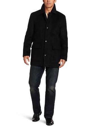 London Fog Men's Mariner Coat, Black, XX-Large