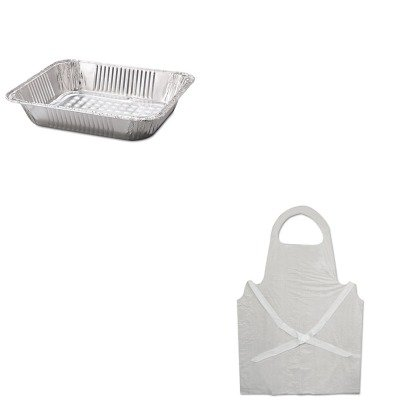 KITBWK390HFA32135 - Value Kit - Hfa Inc Steam Table Aluminum Pan (HFA32135) and Boardwalk Disposable Apron (BWK390) kitbwkk5000rcp750411 value kit rubbermaid autofoam touch free skin care system rcp750411 and boardwalk premium half fold toilet seat covers bwkk5000