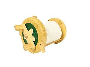 Fishing reel style toilet paper holder for Fishing reel toilet paper holder
