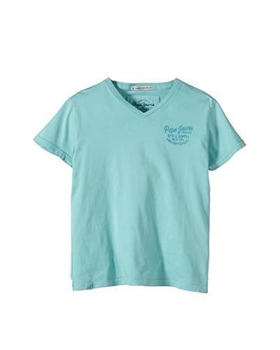 Pepe Jeans Camiseta Manga Corta Addo Junior Azul Claro