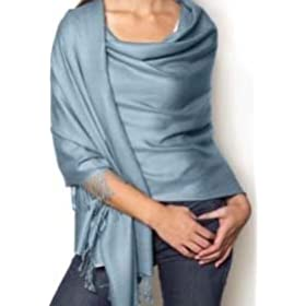 Lauren Solid Color Stunning Pashmina (Sky)