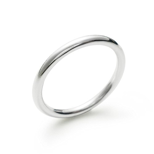 925 Sterling Silver High Polish Plain Round Dome Tarnish Resistant Comfort Fit Wedding Band Ring 2mm (6)