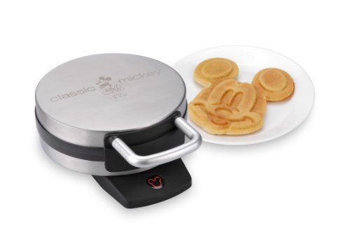 New Disney DCM-1 Classic Mickey Waffle Maker, Brushed Stainless Steel
