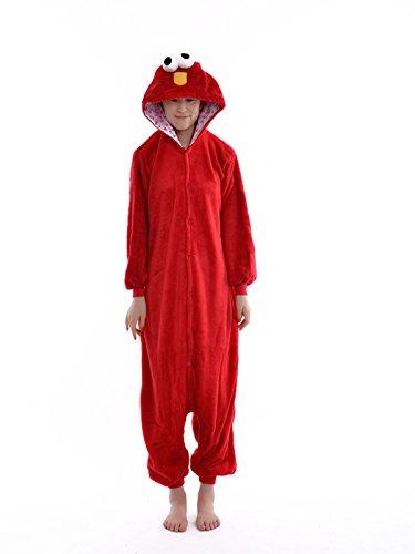 DAYAN Costumi Sesame Street Pajamas Unisex Cosplay adulti Tutina Animal pigiama rosso adulto