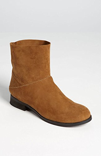 Eileen Fisher Jaunt Dune Brush Off Suede Ankle Boots 9 1/2/m
