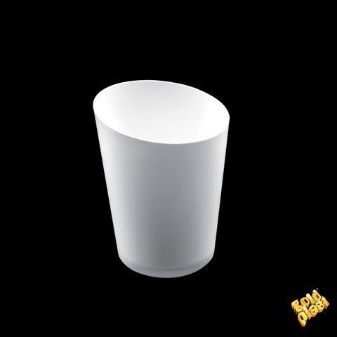 Gold Plast - Bicchierino Conico Maxi, colore bianco - 10 pz per confezione, Capienza 100 cc