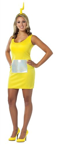 Rasta Imposta Womens Teletubbies - Lala Tank Dress Adult Costume