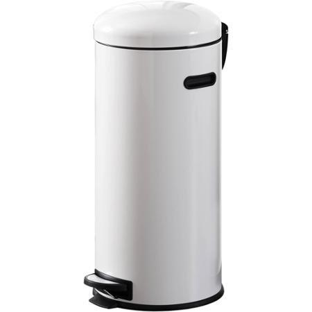 Better Homes and Gardens 30L Retro Trash Can, White, Metal (Trash Can Retro compare prices)