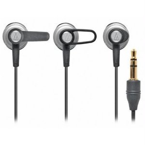 Audio Technica CK6W In-ear headphones ( earphone ) with 10.7 mm Rare-earth Drivers, Loop Support Design and Interchangeable loop supports-Silver (manufacturing end products) [parallel import goods]