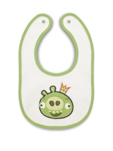 SwaddleDesigns Bitty Bib, Angry Birds Baby, King Pig, Small - 1