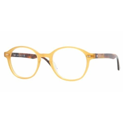 Plastic Glasses Frame Polish : Amazon.com: RAY BAN 5193 RB5193 2289 OPALINE YELLOW ROUND ...