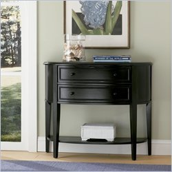 Powell Antique Black Demilune Console Table - 502-515