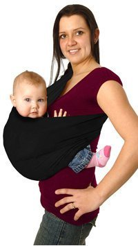 Maman Kangourou Aussie Pouch Baby Carrier, Black, X-Small