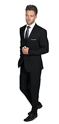 Alain Dupetit Men's Two Button Suit i…