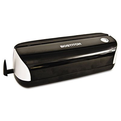 12-Sheet Capacity Electric Three-Hole Punch Black