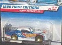 1999 First Editions #5 Olds Aurora GT3 Blue and White #21058