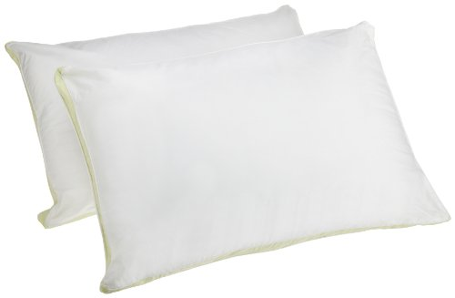 Perfect Fit Medium Density Standard Size 233 Thread-Count Quilted Sidewall Pillow 2 Pack, White
