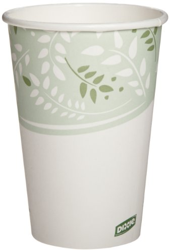 Dixie 2346Pla Ecosmart Viridian Pla Paper Hot Cup, 16 Oz Capacity (20 Packs Of 50)
