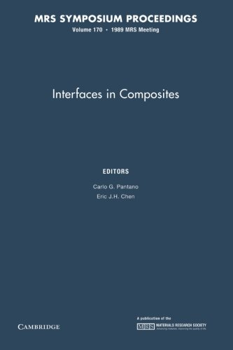Interfaces In Composites: Volume 170 (Mrs Proceedings)