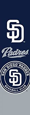 MLB San Diego Padres Team Color and Logo Door Banner