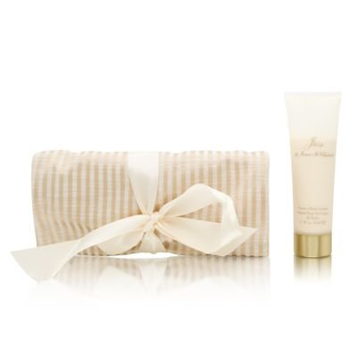Jess by Jessica McClintock for Women Jess Jewels Set: Cream Silk Jewelry Roll Sachet + EDP Jess Mini + 1.7 oz Body Lotion