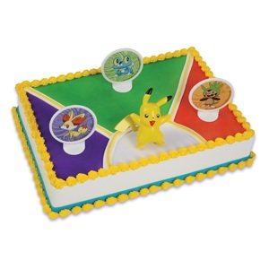 Pokemon Cake Decorating Set Topper