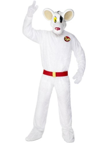 Danger Mouse Deluxe Costume Jumpsuit Adult
