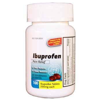 Ibuprofen Tablet 200 mg, 100 Count Case Pack 24