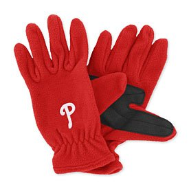 MLB Philadelphia Phillies Fleece Gloves (Red, Men's) at Amazon.com