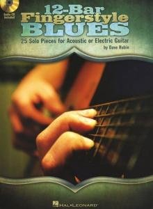 12-Bar Fingerstyle Blues (25 Solo Pieces For Acoustic Or Electric Guitar) - Softcover With Cd
